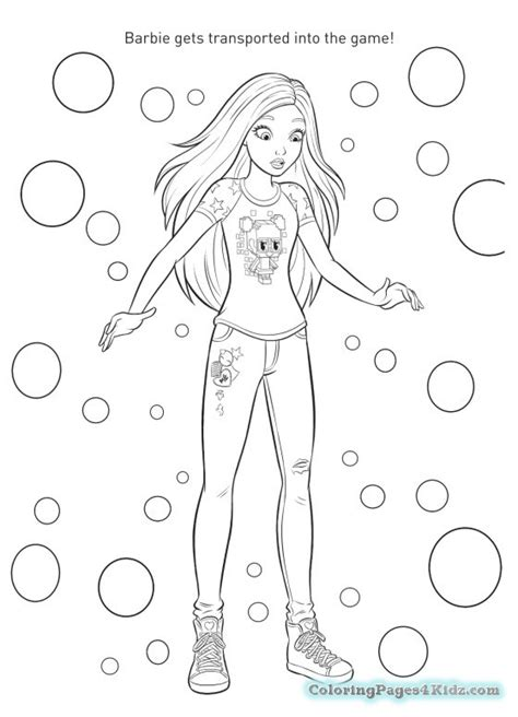 coloring pages barbie games printable barbie video game hero coloring pages