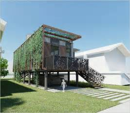 green architecture house plans sustainable homes for victims from brad pitt