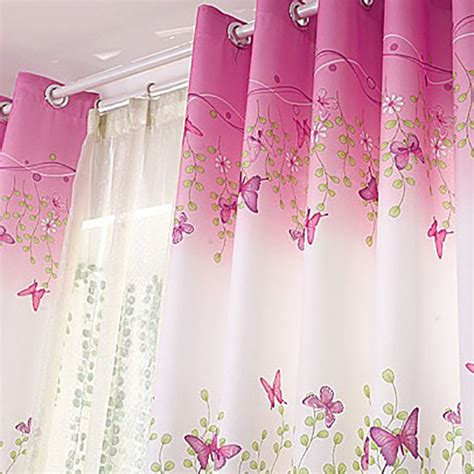 butterfly sheer curtain panels uk butterfly tulle door window curtain drape panel sheer