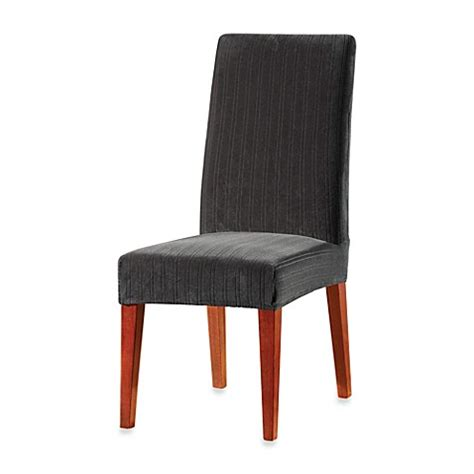 Black Dining Chair Slipcovers Buy Sure Fit 174 Stretch Pinstripe Dining Chair