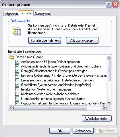 tutorial php with xp tutorial versteckte dateien und ordner in windows xp