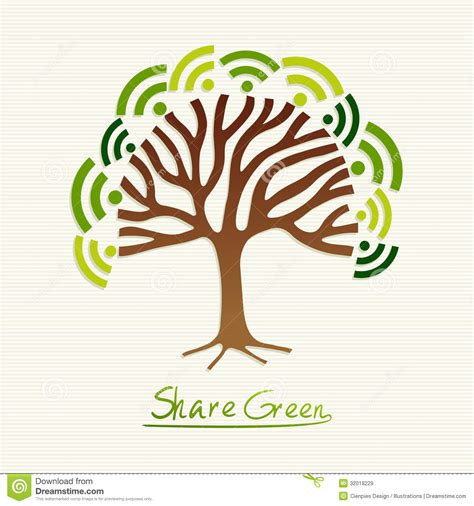 Great Green Idea Save Our Trees by Green Concept Tree Royalty Free Stock Images Image 32018229