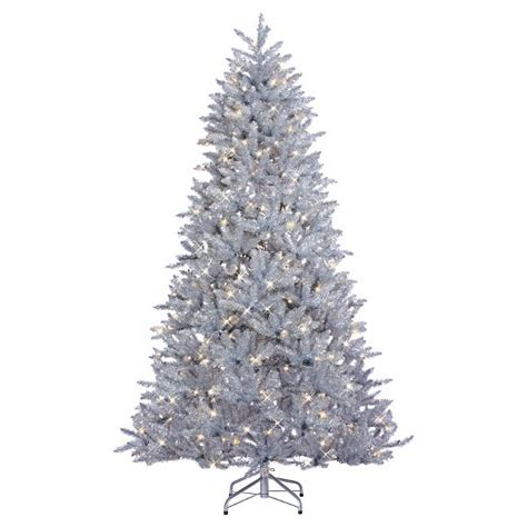 7 5 pre lit led artificial christmas tree silver parkview