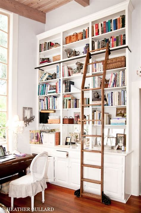 library bookcases with ladders