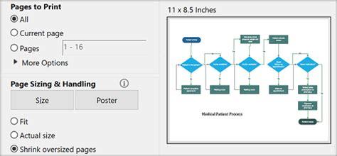 visio print print a visio diagram visio