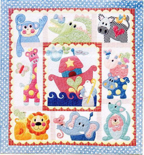 applique quilt pattern noah friends applique pieced bom quilt pattern set