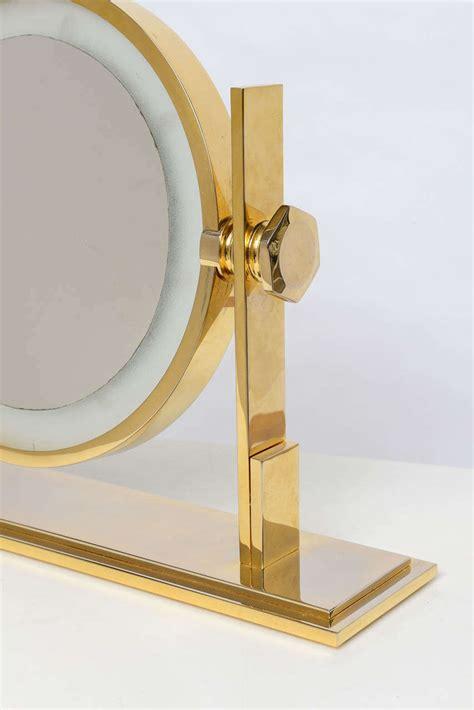 Vanity Table Top Mirrors by Karl Springer Lighted Table Top Vanity Mirror At 1stdibs