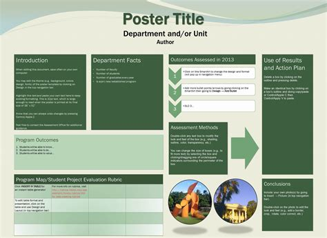 template science project poster template