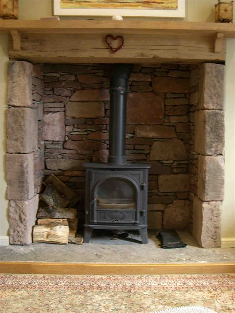Stones For Fireplace by Wood Burning Stoves And Fireplace Ideas On
