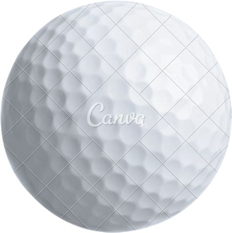 canva transparent background close up of golf ball isolated on transparent background
