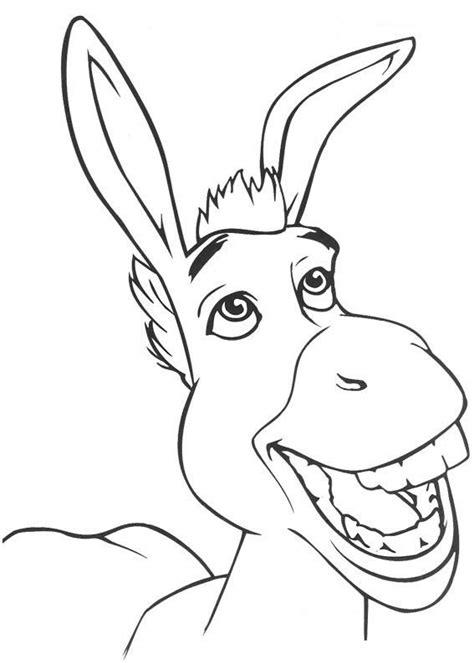 donkey ears coloring page desenhos para imprimir e colorir de shrek