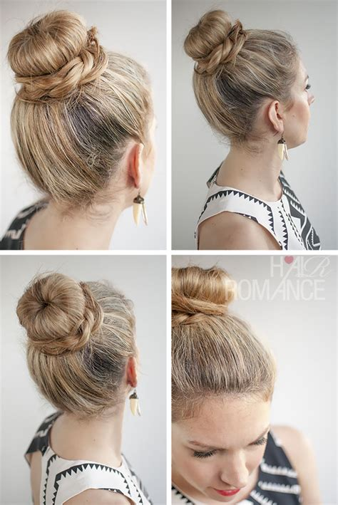 hairstyles with a hair donut 30 buns in 30 days day 11 donut bun and braid