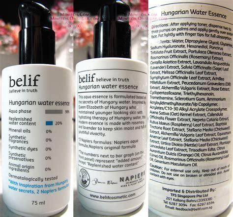 Belif Hungarian Water Essence product review korean skincare belif 4 best items