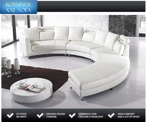 white genuine leather sofa rotunde genuine leather round sofa settee seven seater