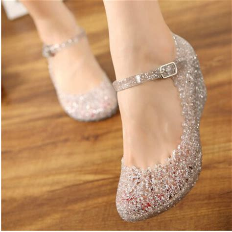 Ban2glosy Jellyshoes Wedges sandals summer wedge jelly shoes comfortable wedges sandals high heels glass