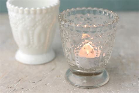 Glass Votive Candle Holders 6 Clear Glass Hobnail Heirloom Votive Candle Holders