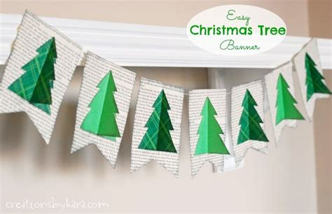 book page christmas tree banner instructions