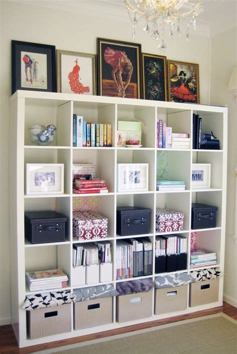 love the versatility and look of cube shelving in an