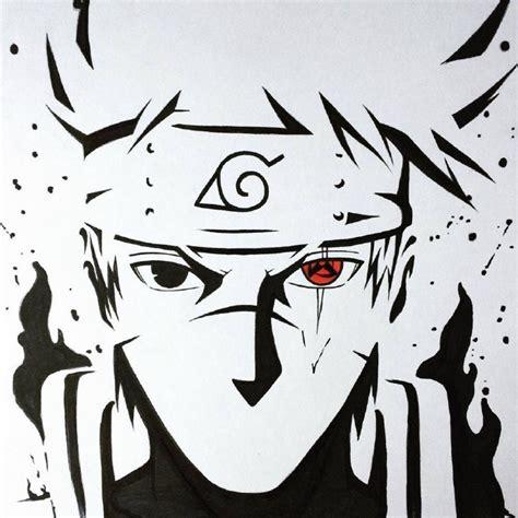 火影忍者动漫主角素描热血男生头像精选 精美的黑白漩涡鸣人图集 卡通头像 q趣家园