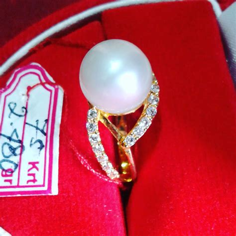 Mutiara Asli Lombok Flower Ring handmade gold ring with south sea pearl cez 51 harga mutiara lombok perhiasan toko emas