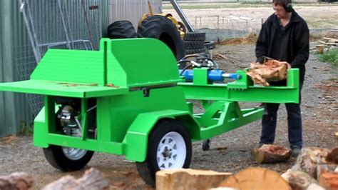 log bench saw beaver equipment saw bench with log splitter youtube