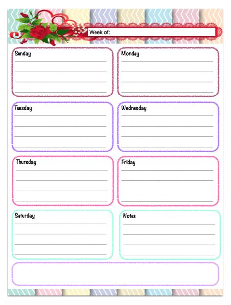 cute printable planner pages 2015 free printable weekly calendars planners schedules