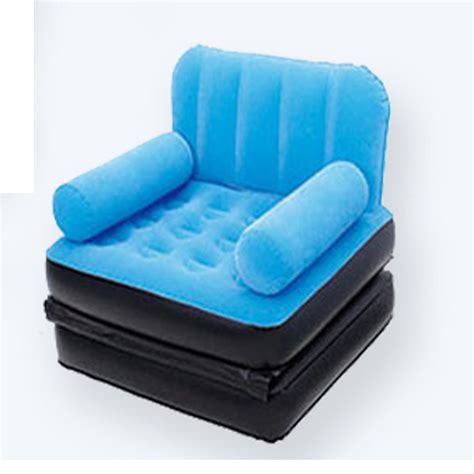 Air Mattress Sofa Bed Sleeper House Pull Out Sofa Air Bed Mattress Sleeper Blue Ebay