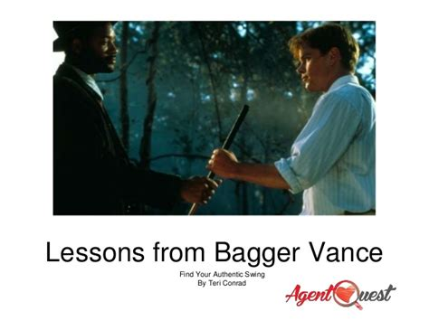 bagger vance authentic swing buisness lessons from bagger vance find your authentic swing
