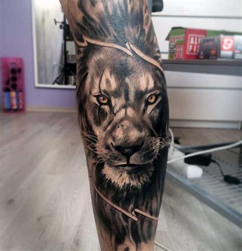 lion leg tattoo 60 sleeve designs for masculine ideas