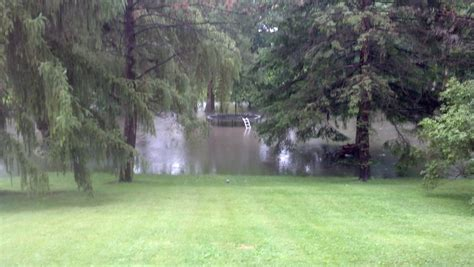 backyard flooding after the flood clean up precautions to take 171 cbs detroit