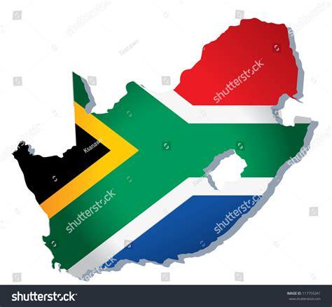 vector map south africa south africa vector map stock vector 117755341