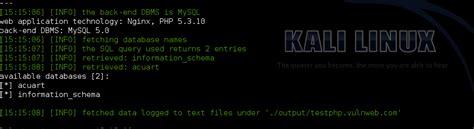 sqlmap tutorial in kali linux hacking website with sqlmap in kali linux kali linux