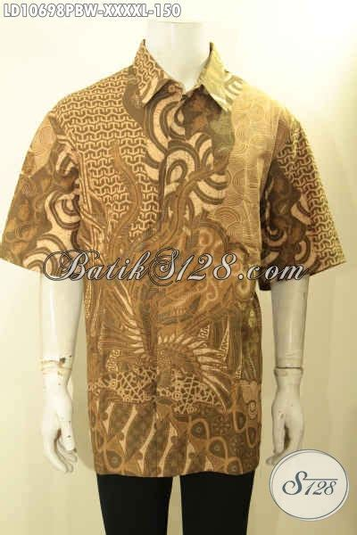 Baju Jumbo Pria model baju batik kerja pria lengan pendek jumbo pakaian