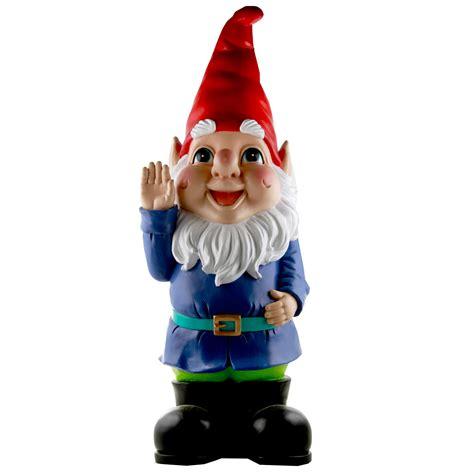 large garden gnome  treasure hunter  designed