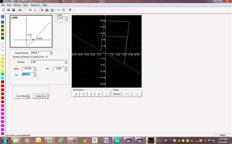 program for drawing graphs how to draw distance relay graph by using freja software