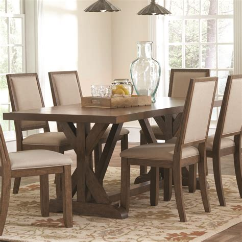 Coaster Dining Room Table Coaster Bridgeport 105521 Rustic Craftsman Base Dining Table Dunk Bright Furniture Dining
