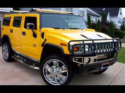 hummer fotos y videos de autos carros y coches modificados la hummer amarilla y el camaro azul youtube