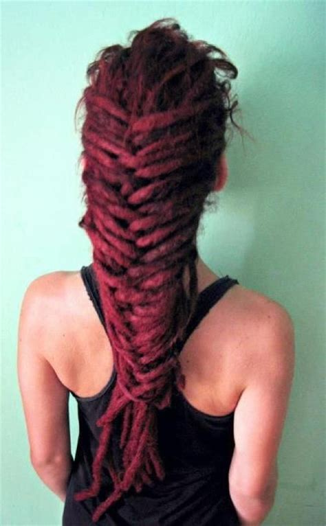 pinterest long curly fishbone tail picture with red curly hair 36 best images about dreads to impress on pinterest