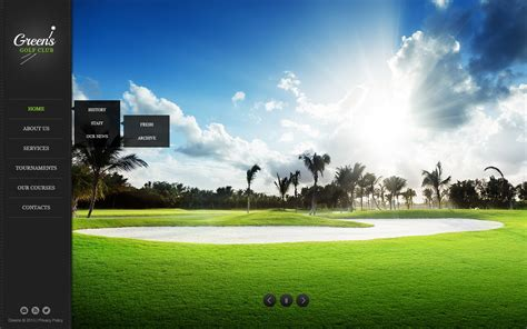 Golf Website Template 44960 Golf Website Template Free
