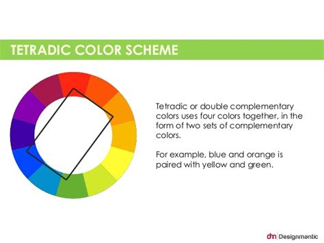 tetradic color scheme tetradic or