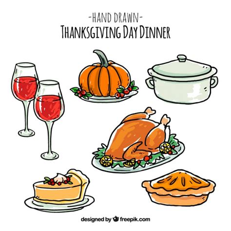 Thanksgiving Drawings pack of thanksgiving drawings vector free