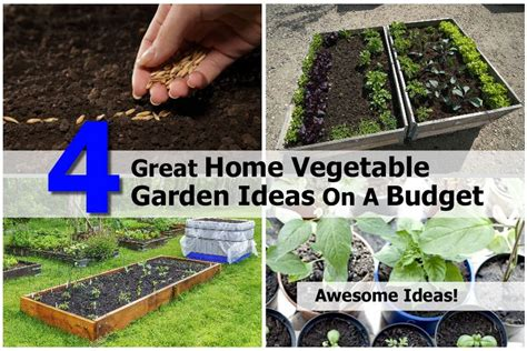 home vegetable garden design ideas 4 great home vegetable garden ideas on a budget