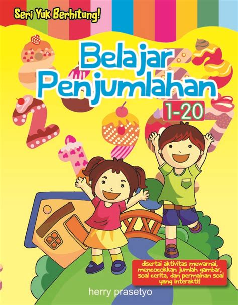desain cover buku anak buku aktivitas anak kartun martono