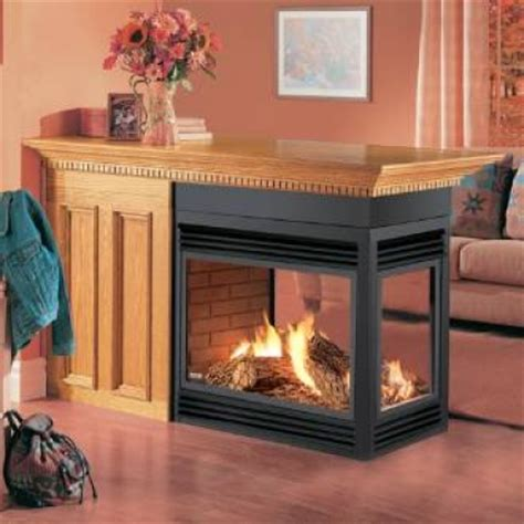 Gas Fireplace With Electronic Ignition by See Thru Island Peninsula Fireplaces Efireplacestore