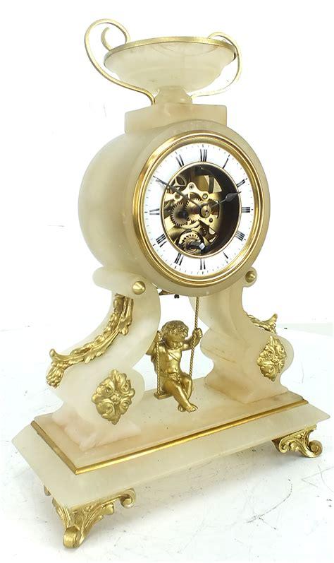 swinging clock antique farcot mantle clock 8 day french swinging cherub
