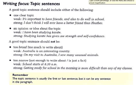 Exles Of Topic Sentences For An Essay by Human Capital