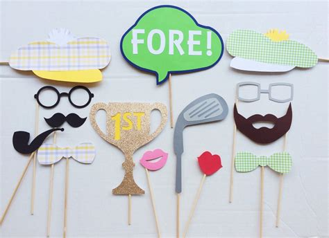printable golf photo booth props popular items for golf birthday party on etsy cheers to