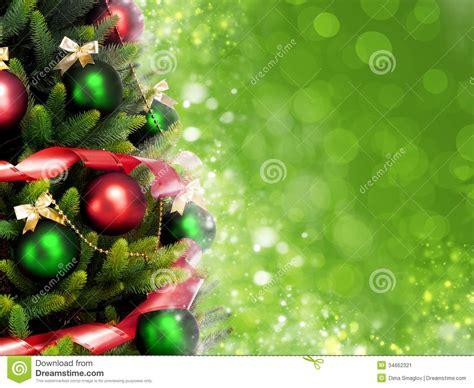 magically decorated christmas tree stock image image