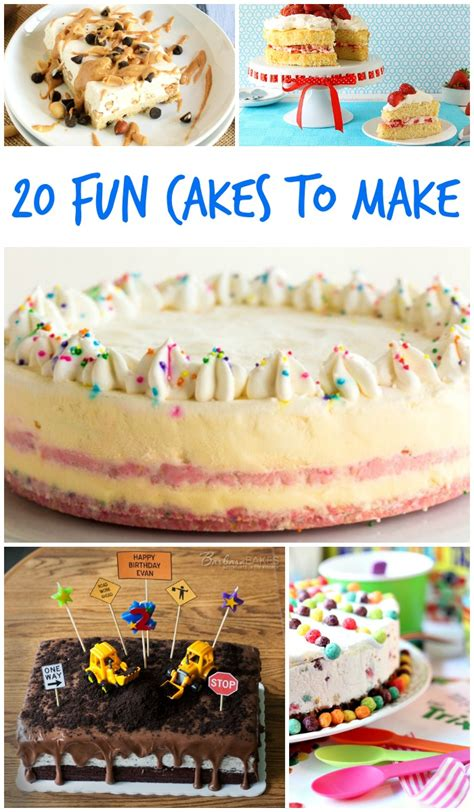 20 fun cakes to make