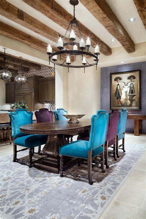 Lovely Salon Velour Vert  #10: Design-salle-a-manger-rustique-chaises.jpg